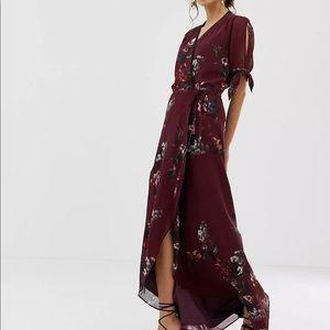 Hope & Ivy Floral Wrap Dress